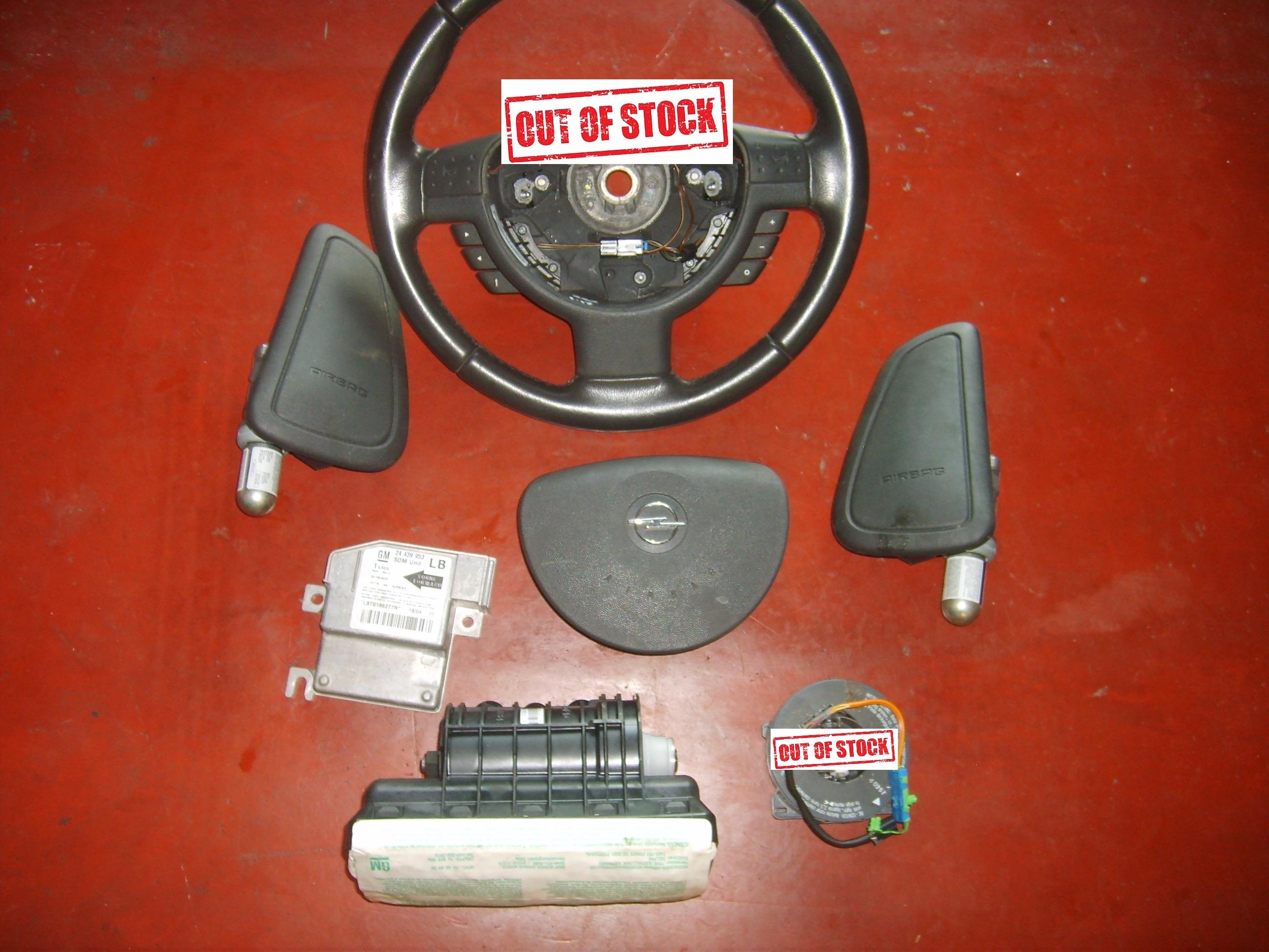 125€ Opel Corsa C airbag set