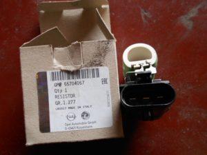 55704057 weerstand opel corsa d met airco koelventilator motor.